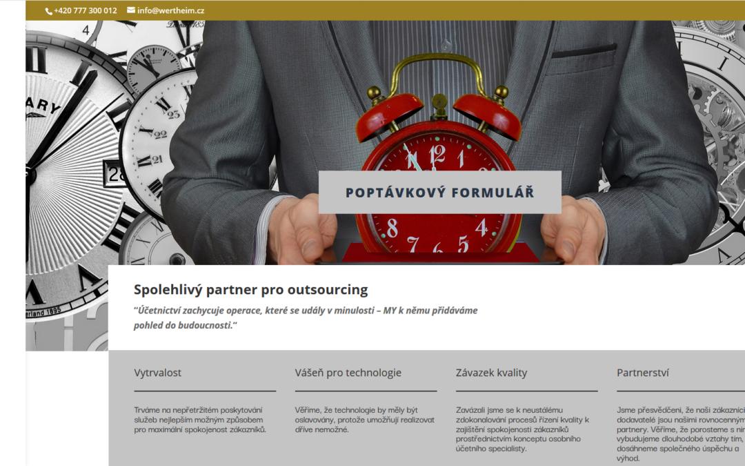 Nový web pro společnost Wertheim spol. s.r.o.